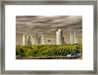 Modern Buenos Aires Tilt Shift Framed Print by For Ninety One Days