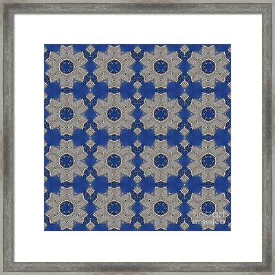 Modern Buidlings Into Moroccan Tile 1 Framed Print by Beverly Claire Kaiya