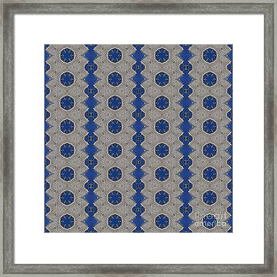 Modern Buidlings Into Moroccan Tile 2 Framed Print by Beverly Claire Kaiya