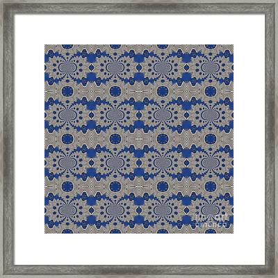 Modern Buidlings Into Moroccan Tile 3 Framed Print by Beverly Claire Kaiya