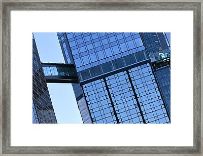 Modern Building And Pool  Framed Print
