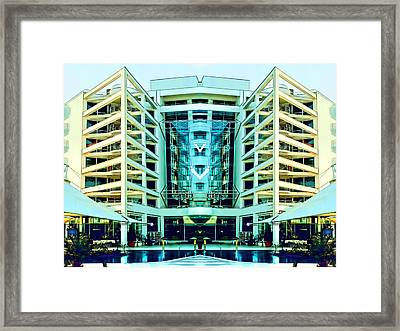 Modern Building From Photos Color Sketch 01 Framed Print by Nenad Cerovic