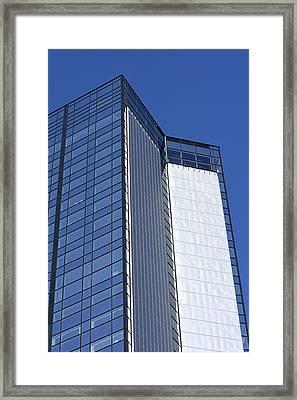Modern Building In Blue Sky Framed Print