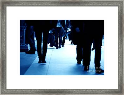 Modern Business Center In Rush Framed Print by Michal Bednarek