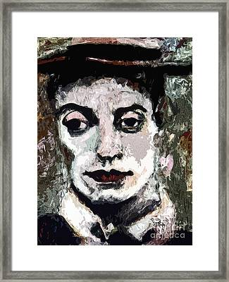 Modern Buster Keaton The Great Stone Face Framed Print by Ginette Callaway