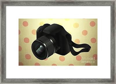Modern Camera Frame Framed Print
