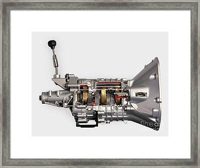 Modern Car 5-speed Manual Gearbox Framed Print