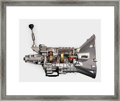 Modern Car 5-speed Manual Gearbox Framed Print by Dorling Kindersley/uig