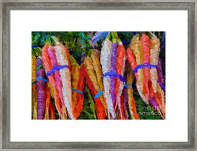 Modern Carrot Painting Framed Print