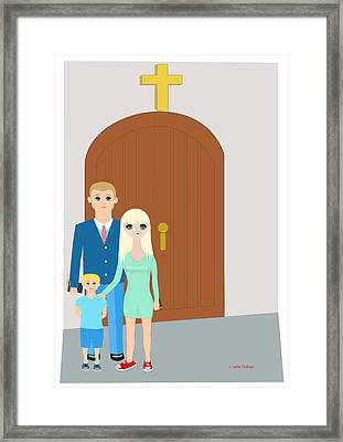 Modern Church Family Framed Print