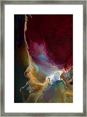 Modern Colorful Earth Tones Abstract Art-achieve The Goal By Kredart Framed Print