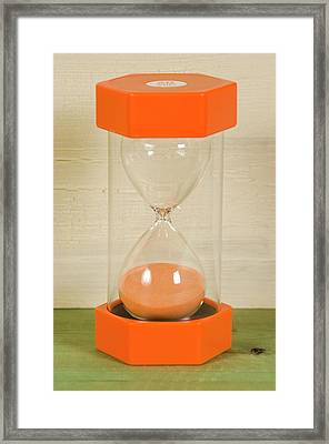 Modern Colorful Hourglass Framed Print by Photostock-israel