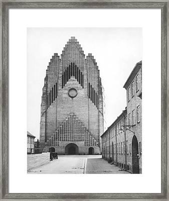 Modern Danish Church Framed Print by Underwood Archives