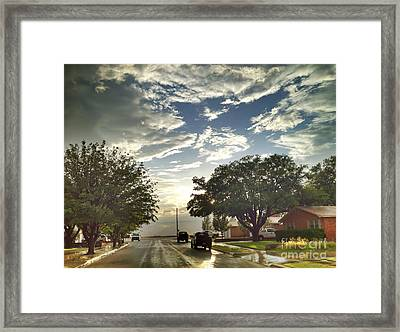 Modern Day Mayberry Framed Print