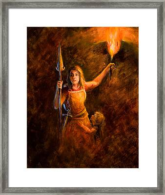 Modern Day Mother In Zion Framed Print