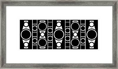 Modern Design 2 In Black Framed Print by Mike McGlothlen