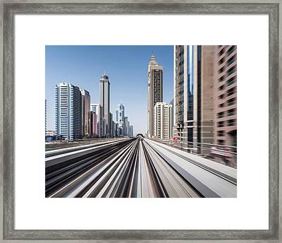 Modern Dubai Framed Print by Yongyuan Dai