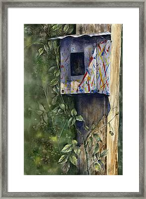 Framed Print featuring the painting Modern Feathered Friends by Mary McCullah