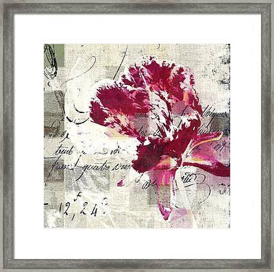 Modern Floral - 072083158 -f222a Framed Print by Variance Collections