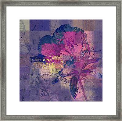 Modern Floral - 072083158 - Mp02b Framed Print by Variance Collections