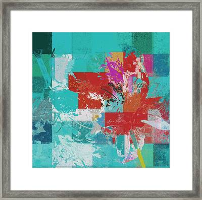 Modern Floral - 072083158 Framed Print by Variance Collections