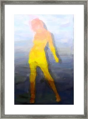 Modern Girl Framed Print by Tommytechno Sweden