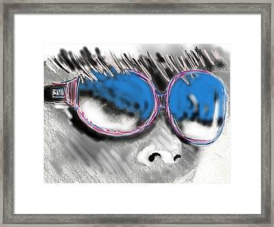 Modern Glasses Framed Print