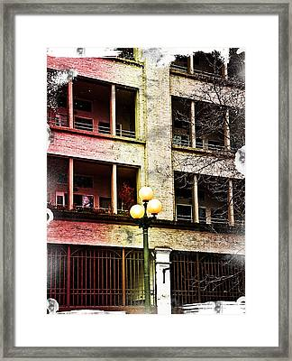 Modern Grungy City Building  Framed Print by Valerie Garner