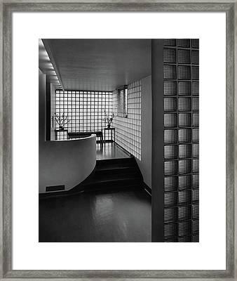 Modern Hallway Framed Print by  Hedrich-Blessing
