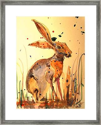 Modern Hare Framed Print by Juan  Bosco