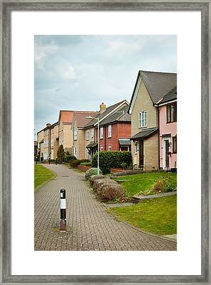 Modern Houses Framed Print