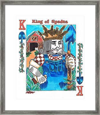 Modern King O' Spades Framed Print by Seth Weaver