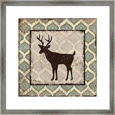 Modern Lodge Azure II Framed Print