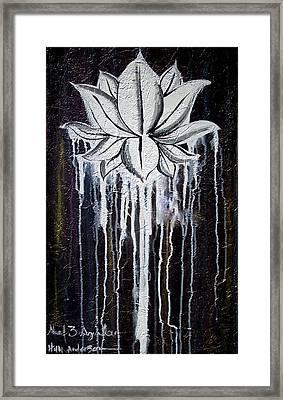 Modern Lotus Flower Painting Framed Print