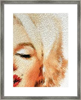 Modern Marilyn - Marilyn Monroe Art By Sharon Cummings Framed Print by Sharon Cummings