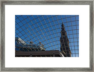 Framed Print featuring the photograph Modern Meets  by Paul Indigo