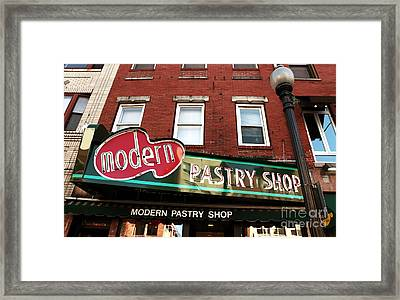 Modern Pastry Shop Framed Print by John Rizzuto