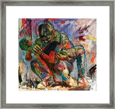 Modern Pieta Framed Print by Michal Kwarciak