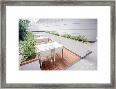 Modern Restaurant Interior Framed Print