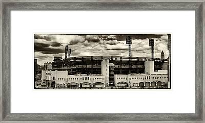 Modern Retro Pnc Park Exterior Framed Print by Gary Cain