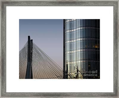 Modern Sao Paulo - Brooklin District - Stayed Bridge Framed Print