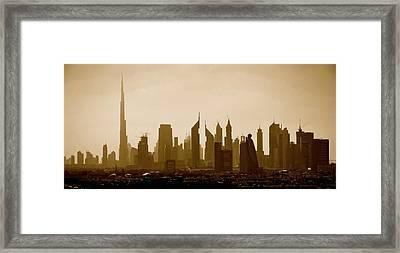 Modern Silhouette Framed Print by Corinne Rhode