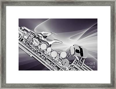 Modern Soprano Saxophone Photograph In Sepia 3344.01 Framed Print