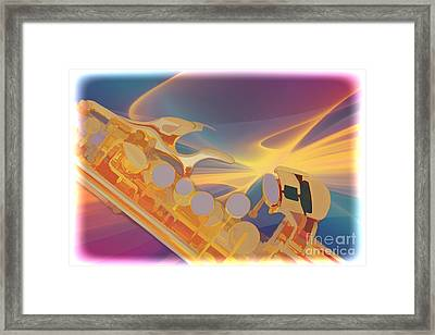 Modern Soprano Saxophone Watercolor Painting 3346.02 Framed Print