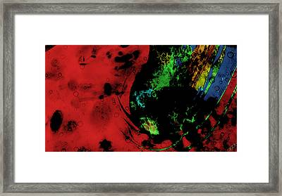 Framed Print featuring the mixed media Modern Squid by Ally  White