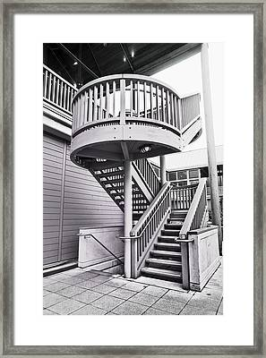 Modern Stairs Framed Print by Tom Gowanlock