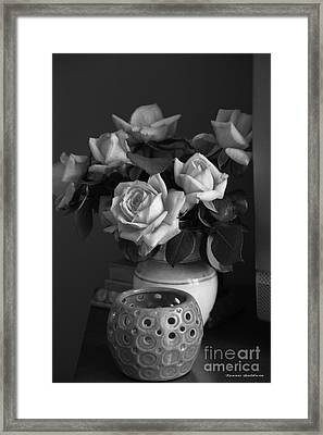 Framed Print featuring the photograph Modern Still Life Bw by Tannis  Baldwin