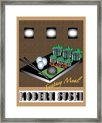 Modern Sushi Framed Print by Colleen Cannon