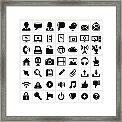Modern Technology Internet Social Framed Print by Bubaone