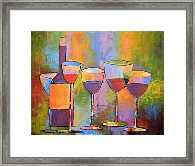 Modern Wine Art ... Wine Party Framed Print